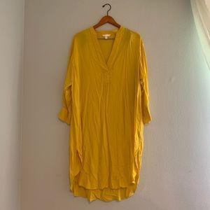 H&M US14 Long Yellow Tunic Modest